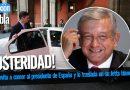 AMLO invita a comer al presidente de España y lo traslada en su Jetta blanco 2013