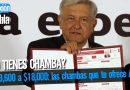 De $3,600 a $18,000: las chambas que te ofrece AMLO
