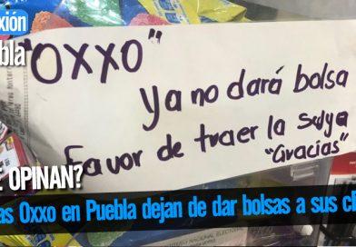 Tiendas Oxxo en Puebla dejan de dar bolsas a sus clientes