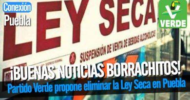 Partido Verde propone eliminar la Ley Seca en Puebla