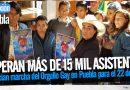 Anuncian marcha del Orgullo Gay en Puebla para el 22 de junio
