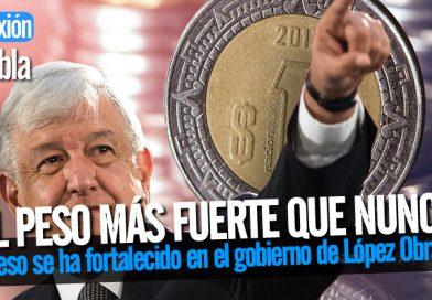 El peso se ha fortalecido en el gobierno de López Obrador