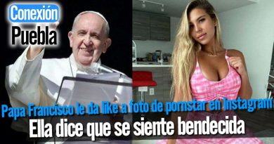 Papa Francisco le da like a foto de pornstar en Instagram