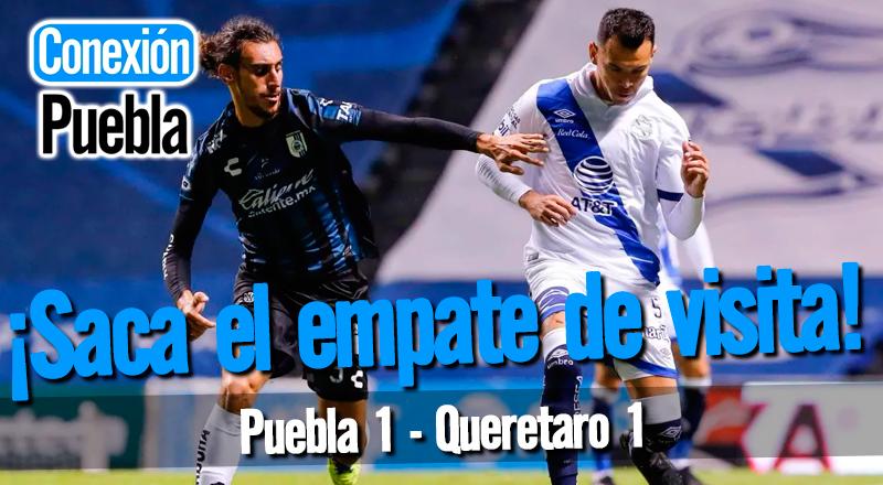 Puebla saca el empate en la Corregidora